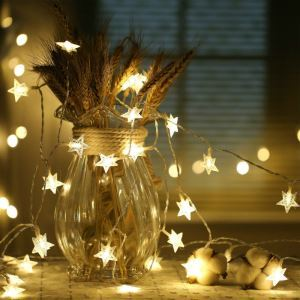 Star Room Decorative Lights Christmas Neon Battery Small Colorful Lights LED String Lights 40 Lights