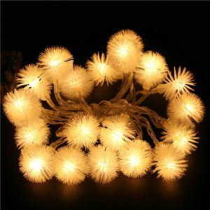 Furry Ball Christmas Tree Decorative Lights LED String Lights 40 Llights