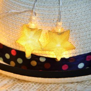 Gold and Silver Iron Craft Stars Lights Stars String Lights LED String Lights