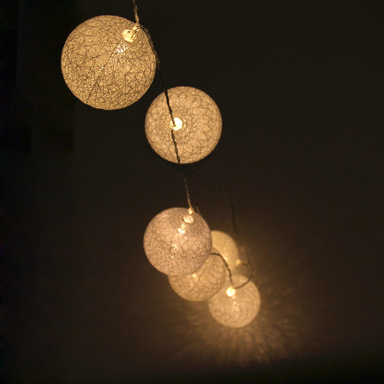 Cotton Ball Decorative Lights Battery Led String Light