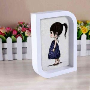 Korean White Small Table Decoration Solid Wood Photo Frame
