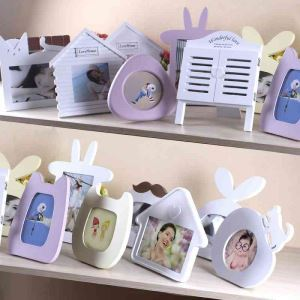 Korean Creative Small Table Decoration Solid Wood Photo Frame