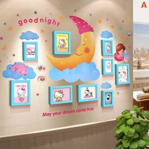 Modern Simple Home Decoration Solid Wood Photo Wall Frame 9 Pcs A Set