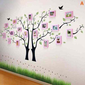 Modern Simple Home Decoration Solid Wood Photo Wall Frame 17 Pcs A Set