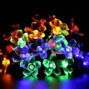 Peach Blossom Modeling Outdoor Waterproof Solar LED String Lights