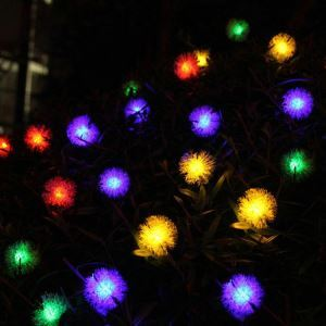 Plush Ball Modeling Outdoor Waterproof Solar LED String Lights