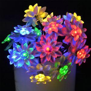 Lotus Modeling Outdoor Waterproof Solar LED String Lights