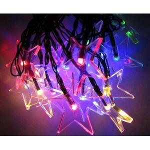 Transparent Pentagram Outdoor Waterproof Solar LED String Lights