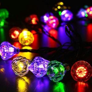 Diamond Outdoor Waterproof Solar LED String Lights