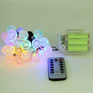 Remote Control 3AA Battery Box Bubble Ball String LED String Light