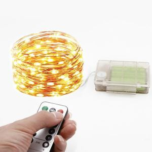 Remote Control 3AA Battery Box Copper Wire String LED String Light