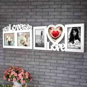 Nordic Simple Creative Wall Mount Home Decor Solid Wood Photo Frame