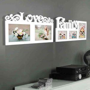 European White Creative Home Decor Solid Wood Photo Frame