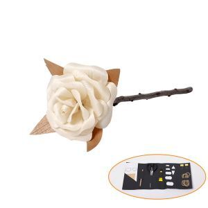 HomeLava Artificial Rose Handmade Rose 1PCS RS002 Wooden DIY Rose With Making Tools (Flower Not Included)