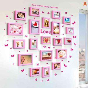 Modern Simple Photo Frame Home Decor Solid Wood Photo Wall Photo Frame 20 pcs/set