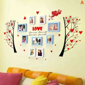 European Home Decor Solid Wood Photo Wall Photo Frame 9 pcs/set