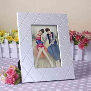 European White Twill Wall Mount Photo Frame Home Decor Solid Wood Photo Frame