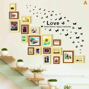 European Home Decor Solid Wood Photo Wall Photo Frame 18 pcs/set