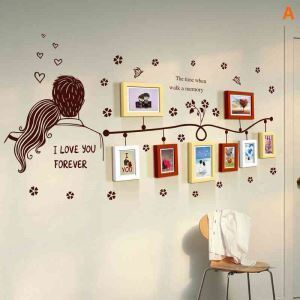 European Home Decor Solid Wood Photo Wall Photo Frame 8 pcs/set