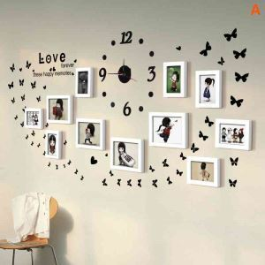 Modern Simple Photo Frame Home Decor Solid Wood Photo Wall Photo Frame 11 pcs/set