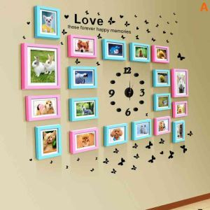 Modern Simple Photo Frame Home Decor Solid Wood Photo Wall Photo Frame 19 pcs/set