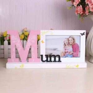 European Creative Letters Home Decoration Solid Wood Photo Frame