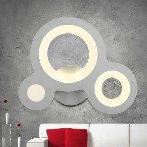 Nordic Modern LED Wall Light Three Ring Dinging Room Hallways Bar Lighting Natural White