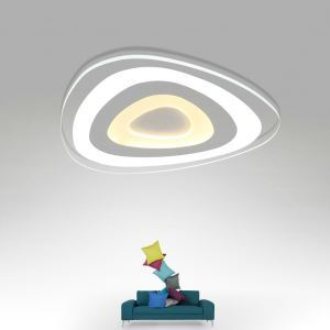 Modern Simple LED Flush Mount Triangle Dining Room Bedroom Lighting