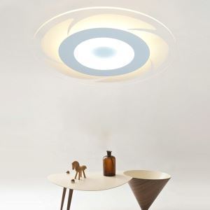 Modern Simple LED Flush Mount Romantic Round Dining Room Bedroom Lighting