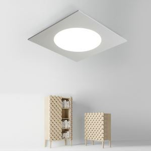 Nordic Simple Style Flush Mount Square Children Bedroom Hallway Light Cool White