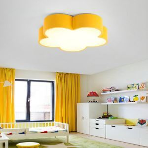 Nordic Simple Style Flush Mount Flower Shape Children Bedroom Hallway Light 5 Colors Available Cool White