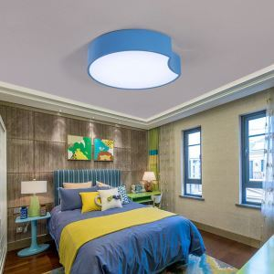 Nordic Simple Style Flush Mount Creative Geometry Shape Children Bedroom Hallway Light 3 Colors Available Cool White