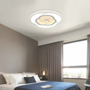 Modern Simple LED Flush Mount Romantic Rose Dining Room Bedroom Lighting