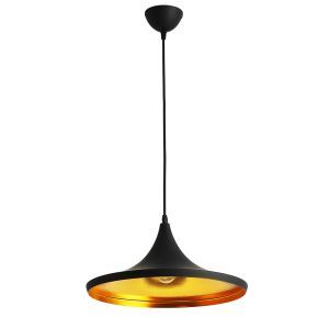 Modern Simple Style Iron Craft Pendant Light Living Room Dining Room Cafe Light Black White 2 Options