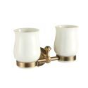 European Antique Bronze Toothbrush Cup Holder Double Cup Holder