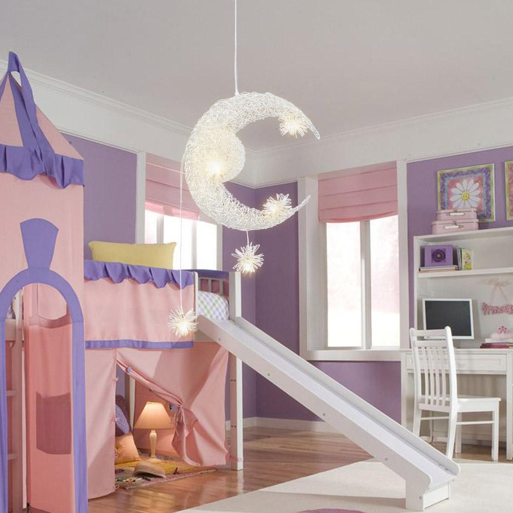 Moon Star Ceiling Light hanging lights for bedroom Kids Room ...