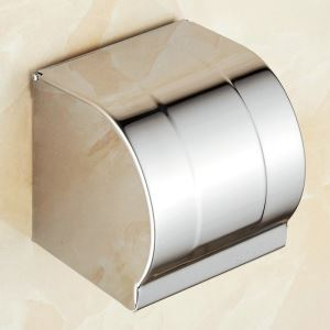 Toilet Paper Box Chrome Plating Craft 304 Stainless Steel European Style Toilet Roll Holder