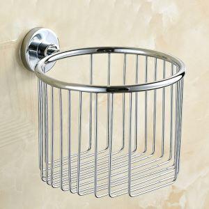 Toilet Roll Holder for Bathroom Chrome Plating Craft 304 Stainless Steel European Style Toilet Roll Holder