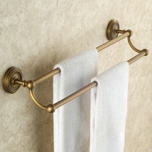 Towel Rack for Bathroom Copper Brushed Finish Retro Bathroom Double Towel Bar