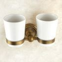 Toothbrush Cup Holder for Bathroom Copper Brushed Finish Retro Toothbrush Holder