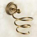 Hair Dryer Holder for Bathroom Copper Brushed Finish Retro Hair Dryer Holder