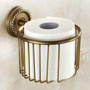 Toilet Roll Holder for Bathroom Copper Brushed Finish Retro Toilet Roll Holder