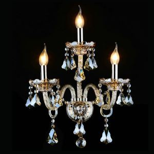 Crystal Wall Light Bedroom Light European Style Bedside Wall Light Staircase Hallway Crystal Light