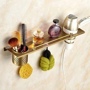 Bath Shelf for Bathroom Copper Brushed Finish Retro Towel Rack
