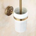 Toilet Brush Holder for Bathroom Copper Brushed Finish Retro Toilet Brush Holder