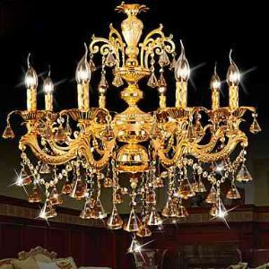 Modern Gold Color LED Crystal Chandelier For Living Room Bedroom And Dining Room Lighting Ideas Lighting Ceiling Lights