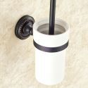 Toilet Brush Holder for Bathroom Oil Rubbed Bronze Craft Black Retro Toilet Brush Holder