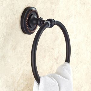 Black Towel Ring for Bathroom Oil Rubbed Bronze Craft Retro Copper Towel Ring