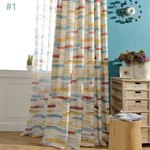 Abstract Colorful Curtain Kids Room Living Room