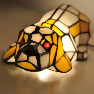 Tiffany Light Kids Room Lamp Shapi Dog Model Shade Bedroom Bedside Lamp European Pastoral Retro Style Light